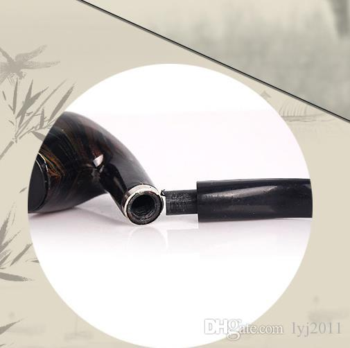 Dual purpose creative Mini resin pipe, color box, suction card and pipe smoking set.