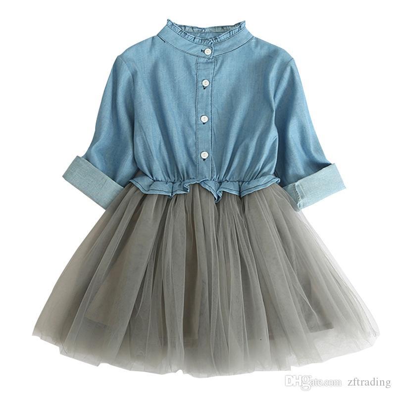 Dresses Mother & Kids Clever Hot Sale Kids Baby Girls Denim Princess Dress Solid Color Ruffle Button Sundress Clothes Sleeveless Summer Stylish Dress 2018