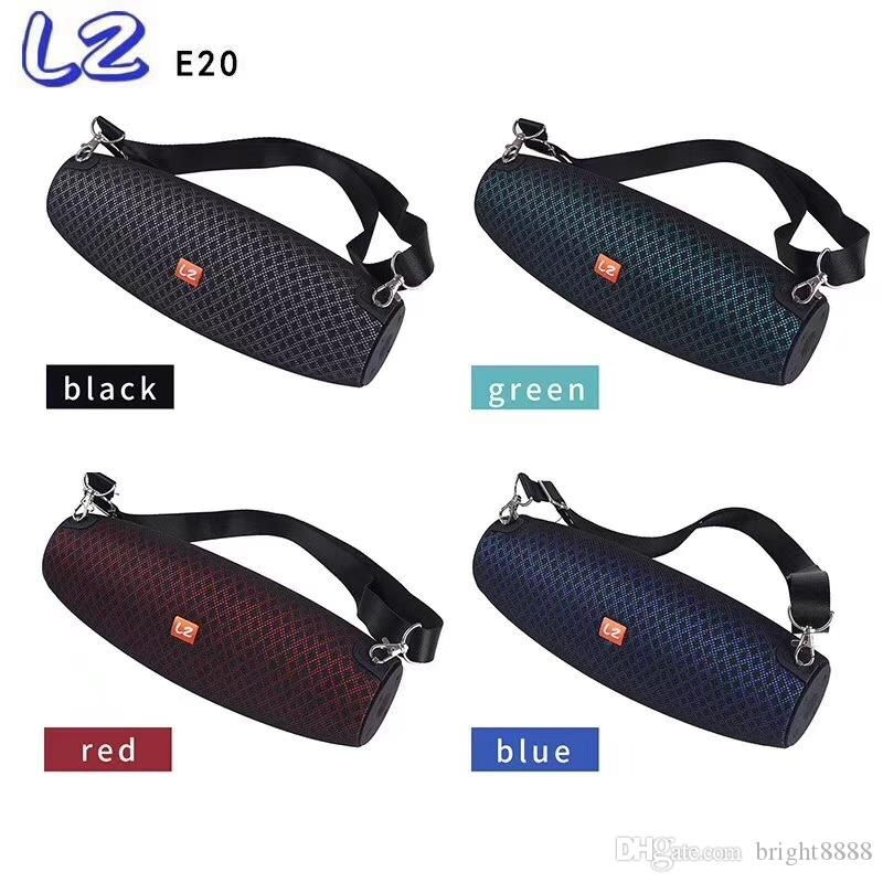 LZE20 factory direct cylinder sound subwoofer convenient wireless hot round bar bluetooth speaker