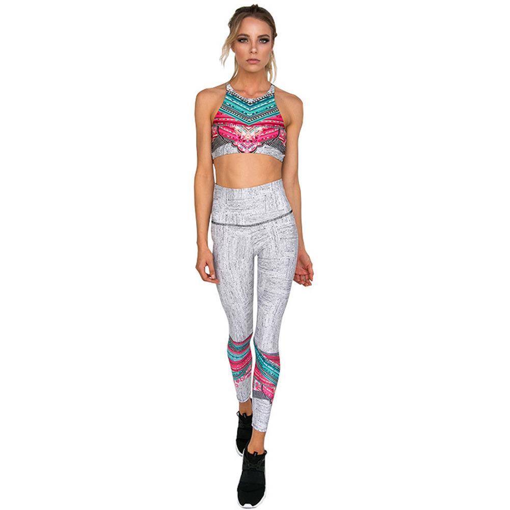 5c1c44868d Popular Tracksuit For Women 2 Piece Yoga Set Floral Print Bra+Long Pants  Sportsuite Fitness Sport Suit Gym Sport Daily Life