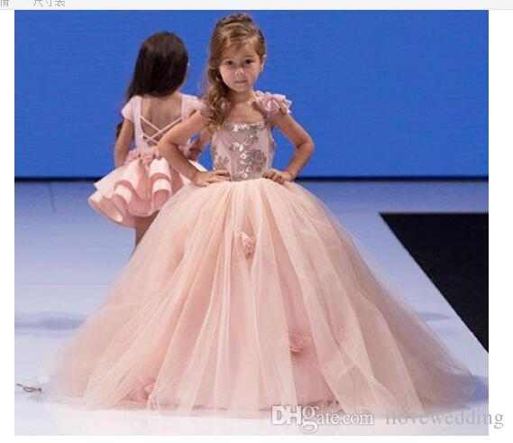ee82475c92c New Fairy Puff Ball Princess Flower Girl Dresses Light Tulle T Show Baby  Dress Wholesale Cheap Cummunion Gowns Custom Made Off The Shoulder Infant  Dress ...
