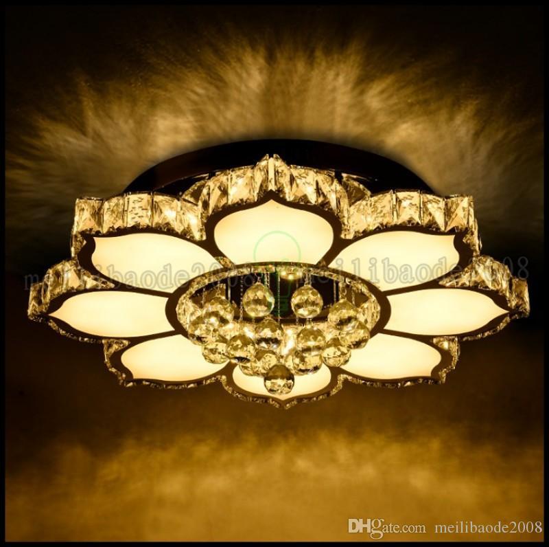 Nueva lámpara de cristal redonda, moderna y minimalista, lámpara de sala de estar, lámpara de techo LED, dormitorio creativo, iluminación del restaurante