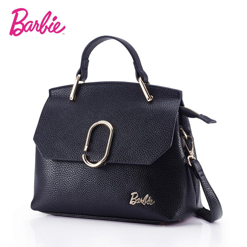 e34501b8eb5f Barbie 2018 Women S Shoulder Bag Leather Simple Style Black Ladies Handbag  Female Fashion Cross Body Bags For Women Ladies Bags Backpack Purse From  Dhenana