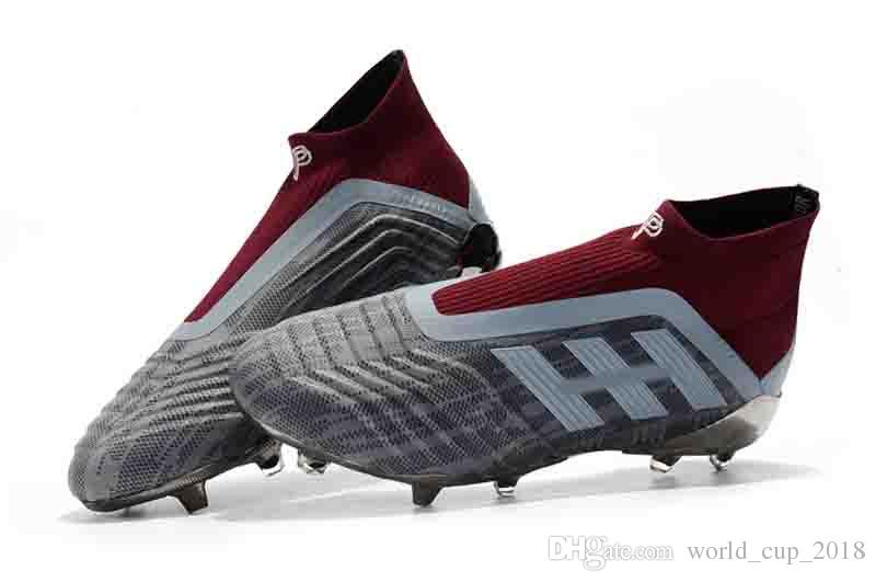 2019 Hot Sale 2018 Predator 18.1 Mens FG Football Boots Cheap Soccer Laceless  Cleats Socks High Ankle Outdoor Sneakers With Shoelace Size 39 46 From ... 286e35696