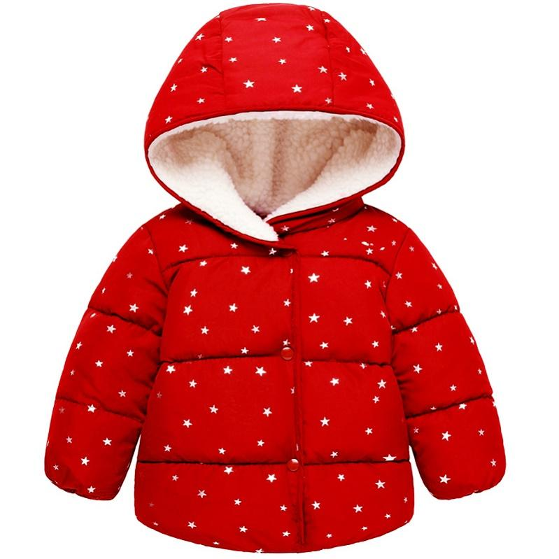 1c9c6aaa0 Small Baby Infant Child Cotton Jacket Kids Winter Small Stars Soft ...