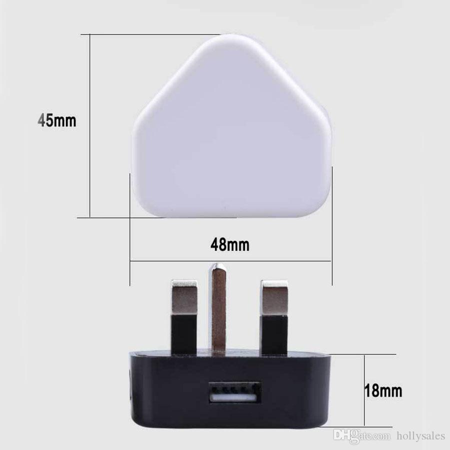 wholesale factory price universal 5V 1A UK plug fast charge travel charger adapter power dock usb wall chargers for samsung s9 8 plus