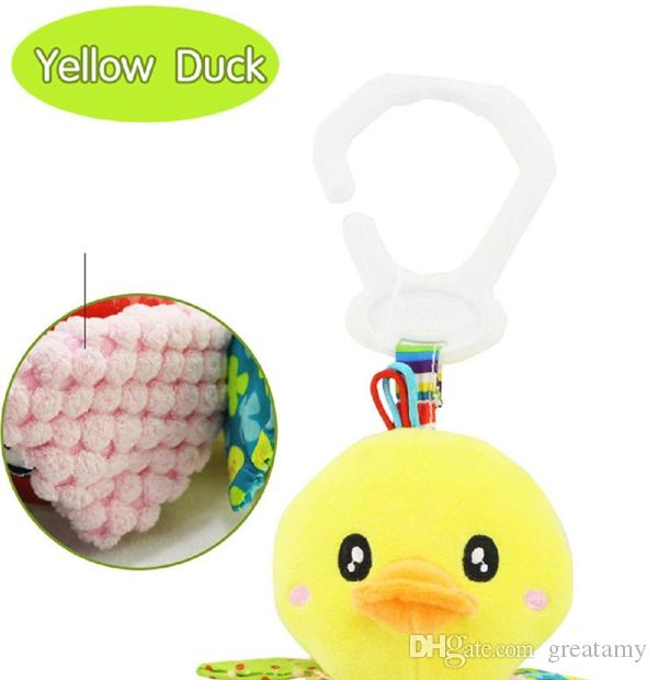 Cute butterfly rabbit duck bird baby kids stroller bed car around hanging bell rattle activity soft toys outer baby plush toy