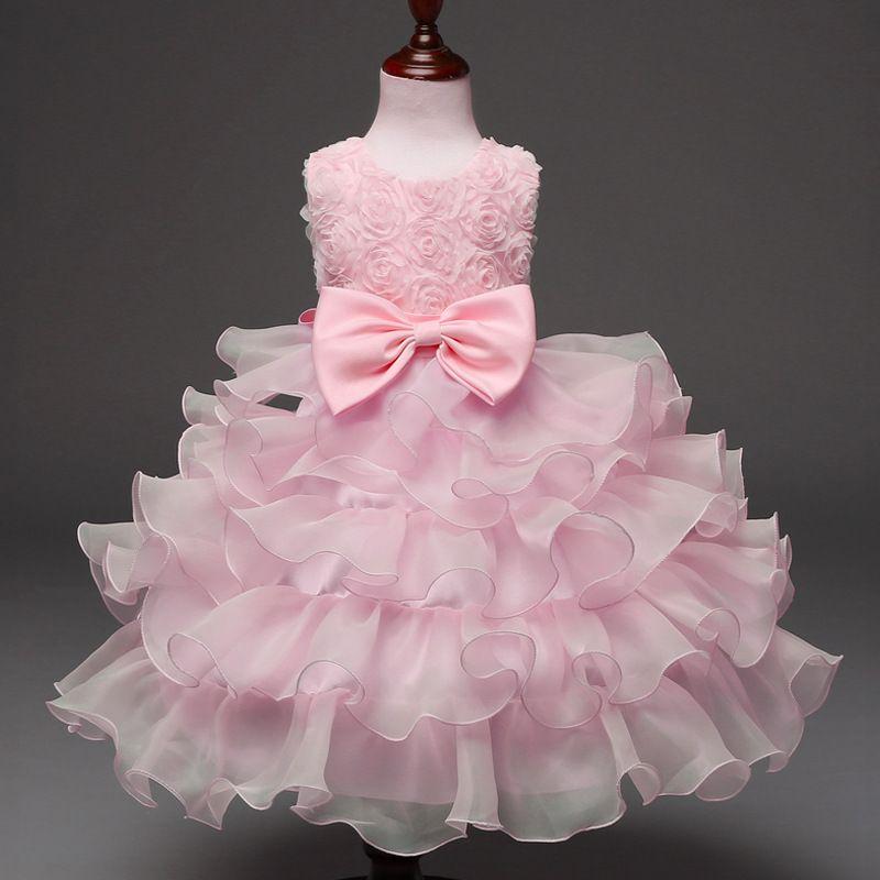aaa7c068d8a5 Foreign Trade Explosions Children S Dress Bow Dress Rose Dress ...