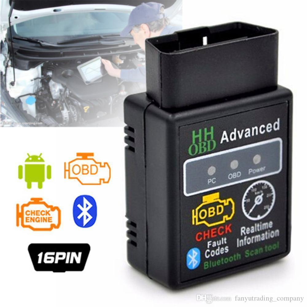 Mini ELM327 V2.1 Bluetooth HH OBD Advanced OBDII OBD2 ELM327 Auto Car Diagnostic Scanner code reader scan tool hot selling