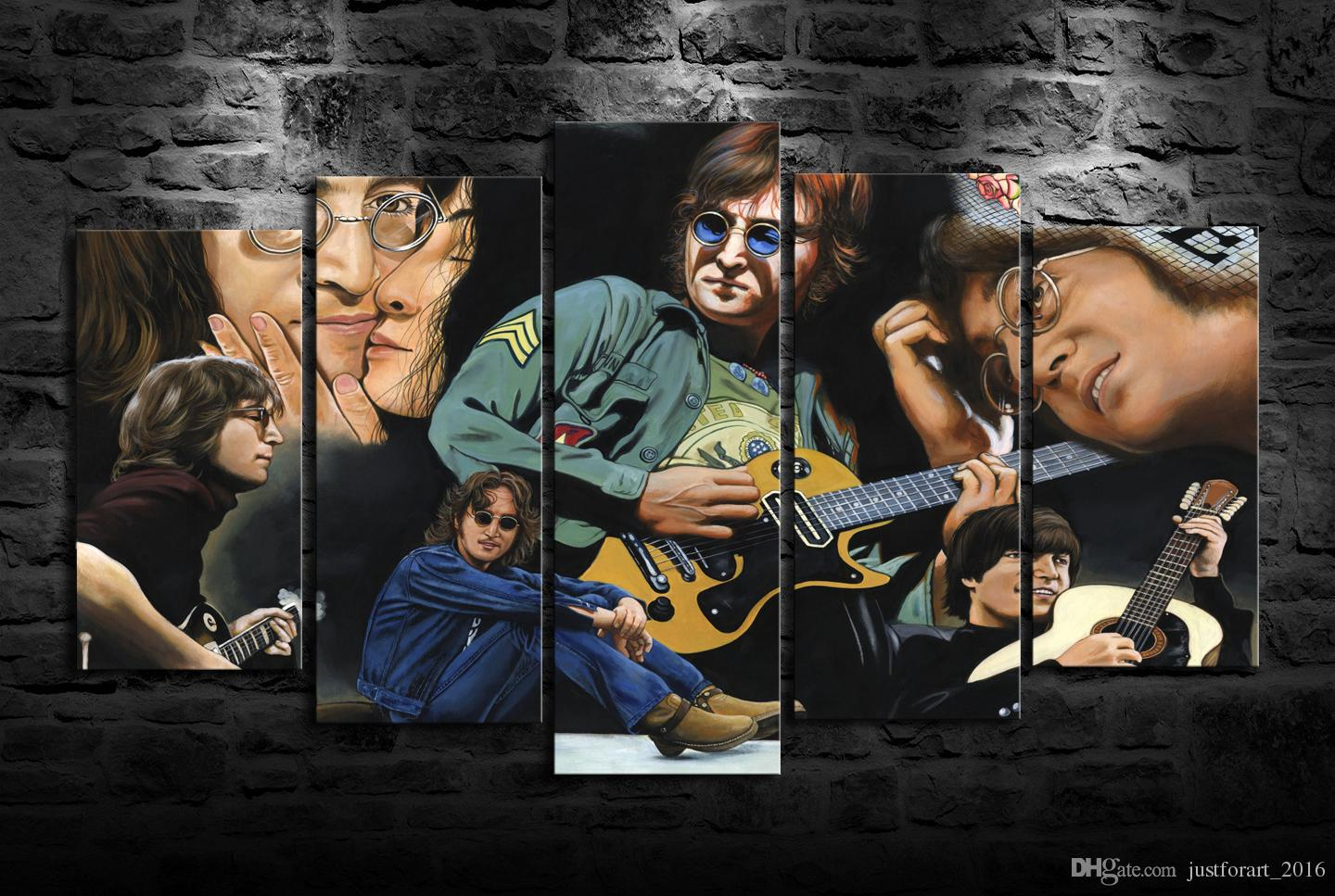 Newest HD Printed John Lennon Oil Painting Home Decoration Wall Art ...