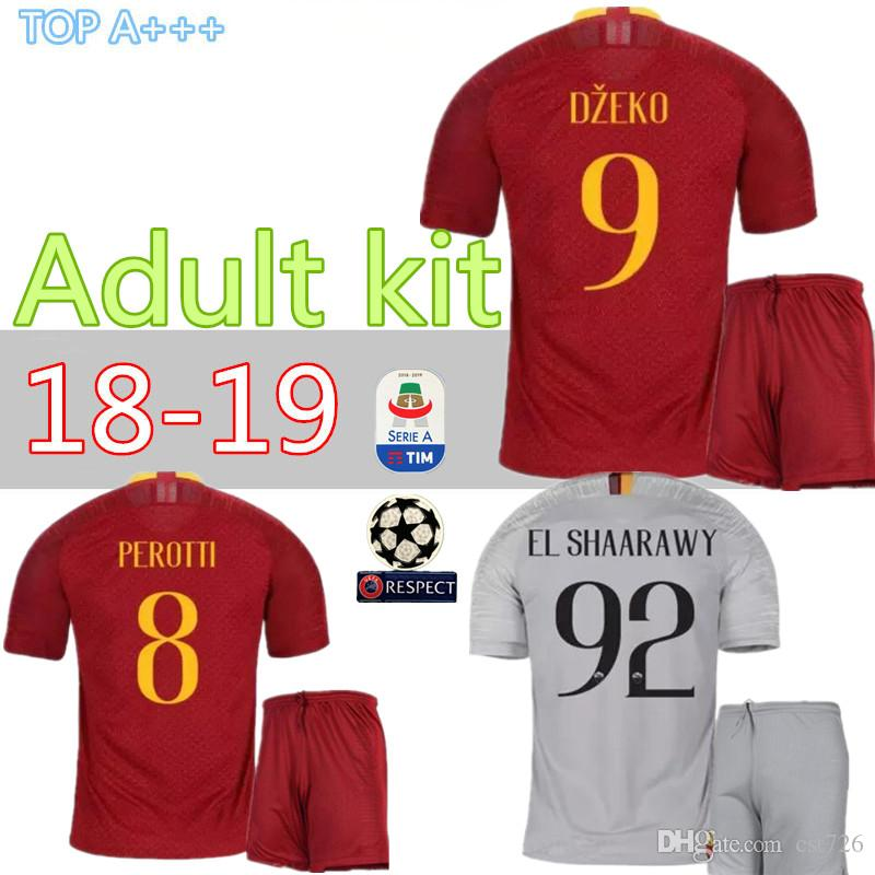 d2cd80fc3 New SOCCER Jerseys Adult Home Away KIT TOTTI DE ROSSI New Arrive 18 ...