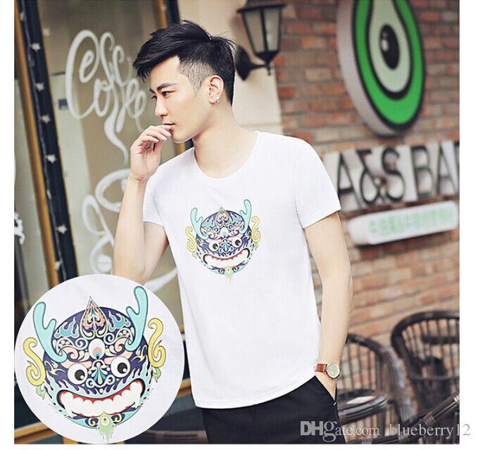 Pareja Camiseta Camiseta Parches Etiqueta Desgaste de la calle Pegatinas DIY Para la camiseta Divertido de hierro en transferencias de parches para la ropa