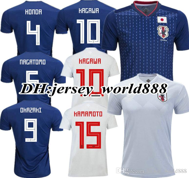640d4847801 2019 KAGAWA 2018 World Cup Japan Home Blue Soccer Jersey OKAZAKI HASEBE  NAGATOMO HARAGUCHI 18 19 Japan Away White Football Shirt TOP QUALITY From  ...