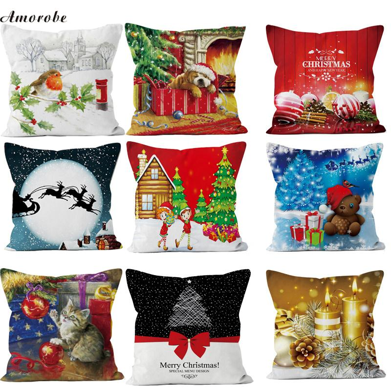 Christmas Decoration For Home Merry Christmas Pillow Cover 40 New Stunning Outdoor Decorative Christmas Pillows