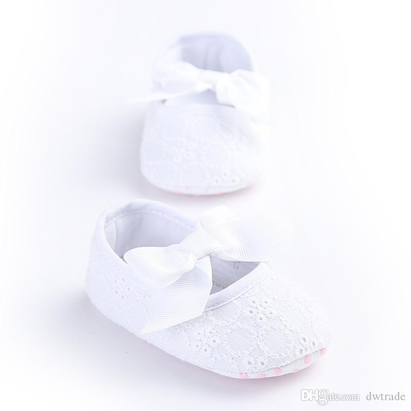Wholesale New Spring Autumn Lace Bow Princess Baby Toddler Shoes Slip-on Easy to Wear Indoor Outdoor Shoes 3 Sizes a Set