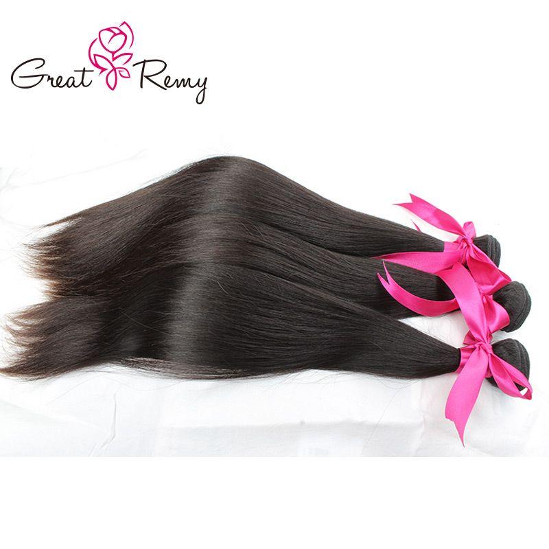 Greatremy® UNPROCESSED Braziilan Virgin Hair Weave Straight Hair Extensions Peruvian Malaysian Indian Hair Bundles