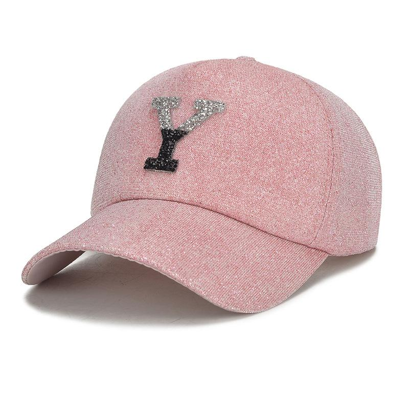 b6496cc6e1c New Luxury Brand Women Ball Hat Fashion Bling Bling Baseball Cap Top  Quality Girls Leisure Cap Popular Shiny Street Party Caps Baseball Caps  Cheap Baseball ...