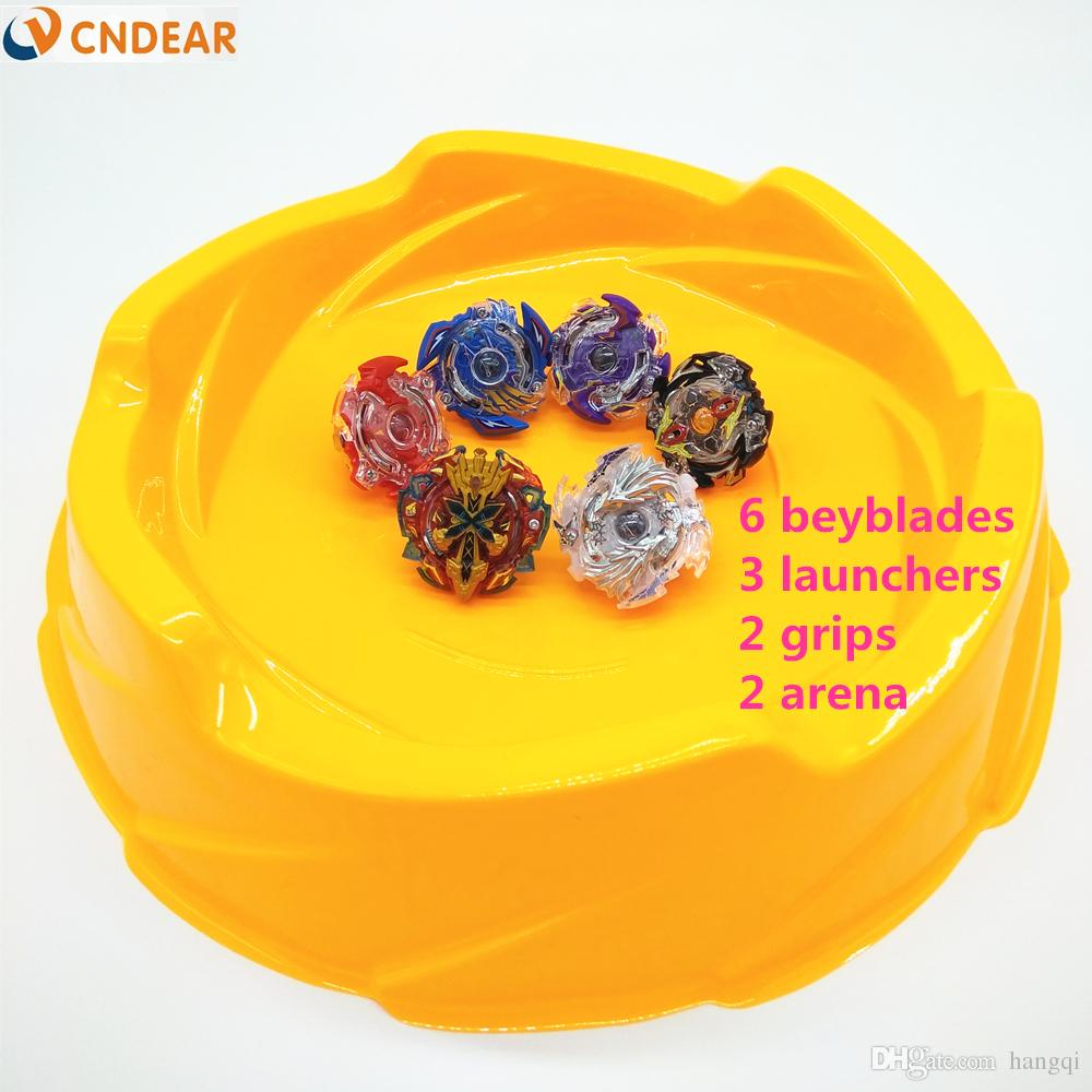Beyblade arena stadium Beyblade Burst With Launcher Starter Xeno Excalibur.M.I Starter Zillion Zeus I.W Beyblade Toys yellow