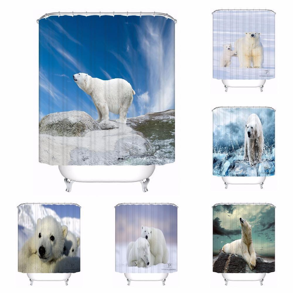 2019 Custom Cute Polar Bear Cubs Waterproof Bathroom Acceptable Shower Curtain Polyester Fabric 180318 17 From Aurorl 3148