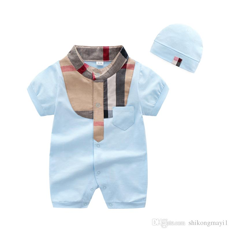 849af42f0eb15 2019 High Quality Retail Baby Boys Rompers Short Sleeve Infant Jumpsuits  Summer Baby Girls Clothing Sets Cartoon Newborn Baby Clothes For 3 24 Mo  From ...
