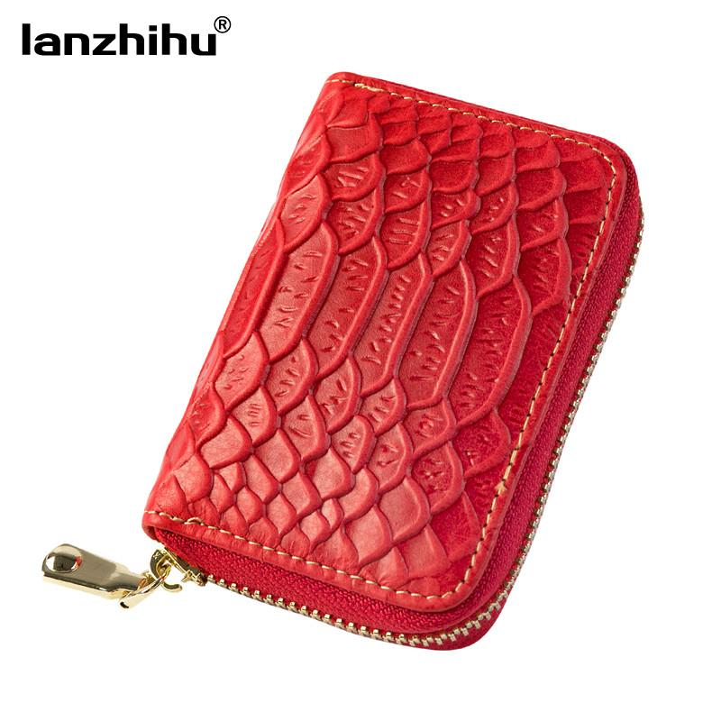 ef44ad6ed693 Women Genuine Leather Holder Zipper Female Crocodile Small Designer Brand Card  Wallet Fashion Organizer ID Card Case Card Holders Designer Wallets From ...