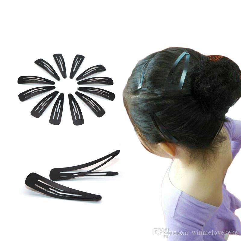 Snap Hair Clips Accessories For Women Black Hair Snap Clips Hairgrips Hairclip Barrettes Head Hairpins Accessory 5 CM