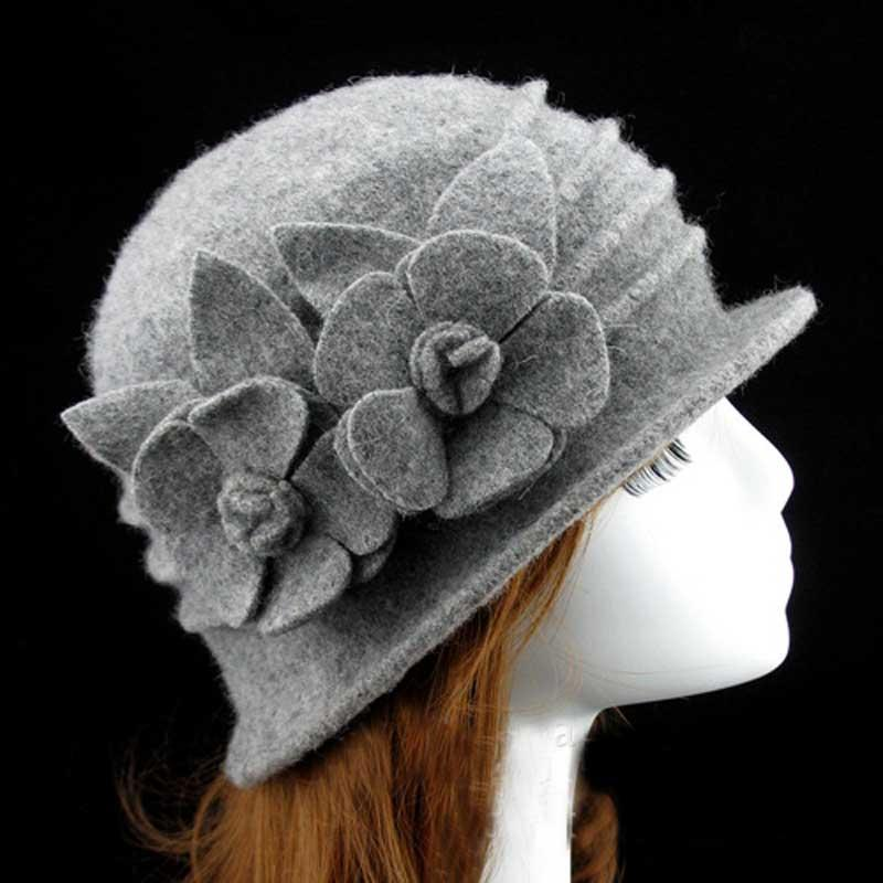 0ff92d23f12c7 Fine Wool Bucket Hat For Women Spring Fall Floral Cloche Caps Ladies Winter  Woolen Bucket Hats In Bulk Wholesaler China Black Hats Scala Hats From  Rainbowwo ...
