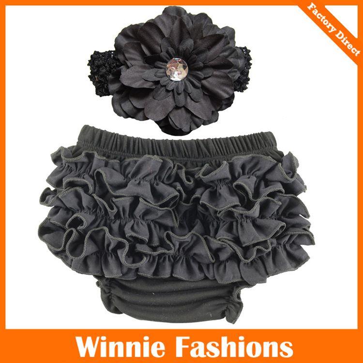 12 estilo Ins recién llegados bebé niños PP corto 100% de alta calidad para niñas pequeñas Ruffles Short + Flower Headband todo el partido lindos pantalones cortos de verano