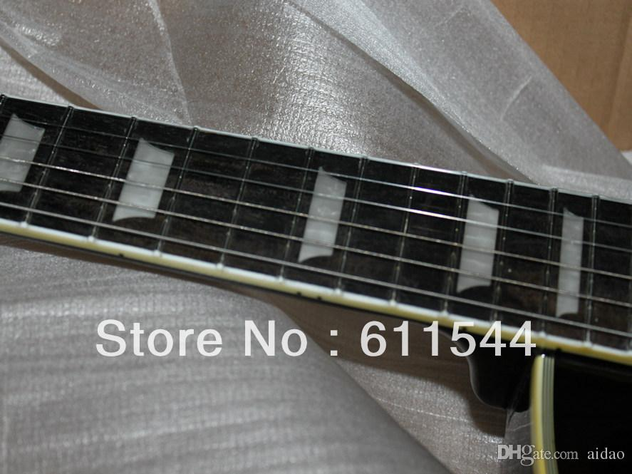 Black Beauty 2 Pickups Custom Shop Electric Guitar Ebony Fingerboard Wholesale