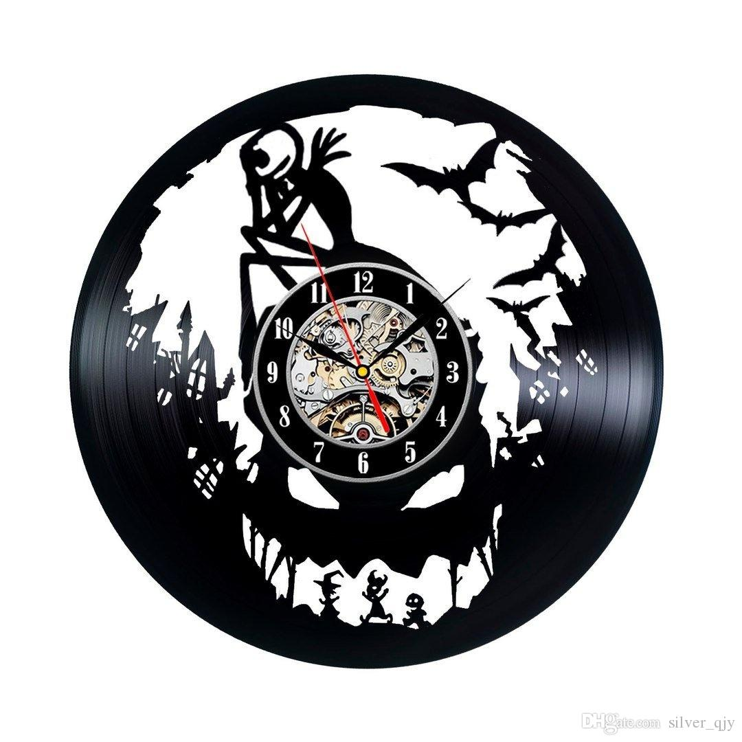 Nightmare Before Christmas Vinyl Wall Clock Vintage GiftSize:12inch ...