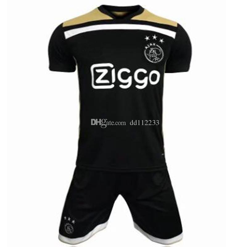 f92b44ab5 2019 Newest 2018 2019 Adult Soccer Jersey 18 19 Ajax Away Black Soccer  Shirt 2018 2019 Customized  10 KLAASSEN  34 NOURI Football Uniform From  Dd112233
