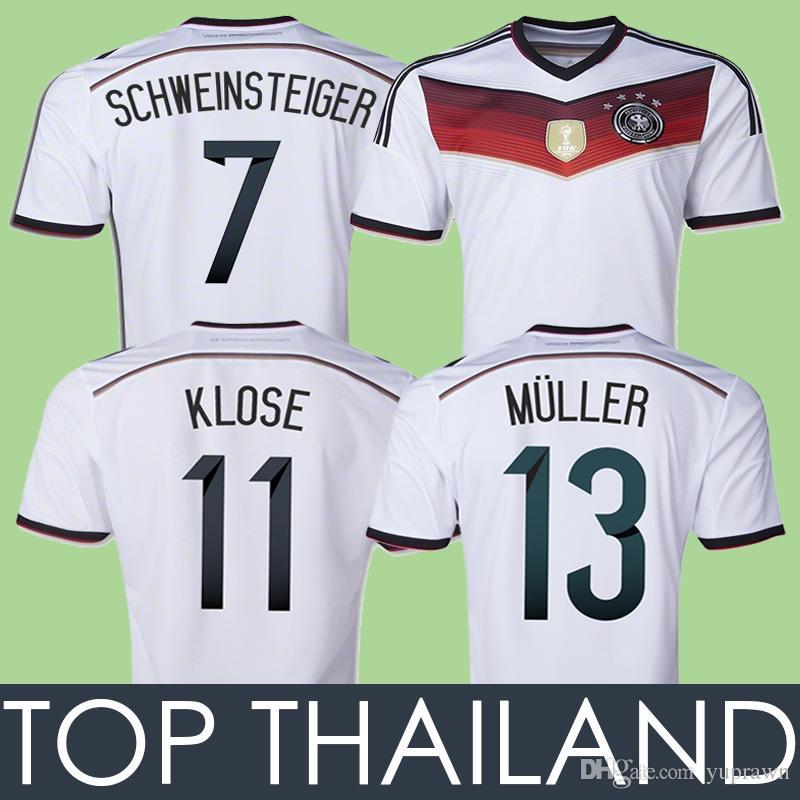 Compre 2014 Alemanha Klose Retro Camisa De Futebol Muller Kroos  Schweinsteiger Ozil 14 Jersey Trikot Camisas De Futebol Do Vintage Lahm  Camiseta Maillot De ... b60f3a87d592c