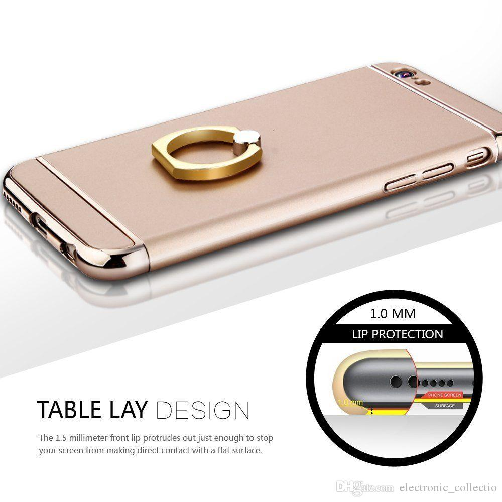 Para iphone x 10 6 s 7 8 plus case de luxo ultra fino à prova de choque híbrido capa dura