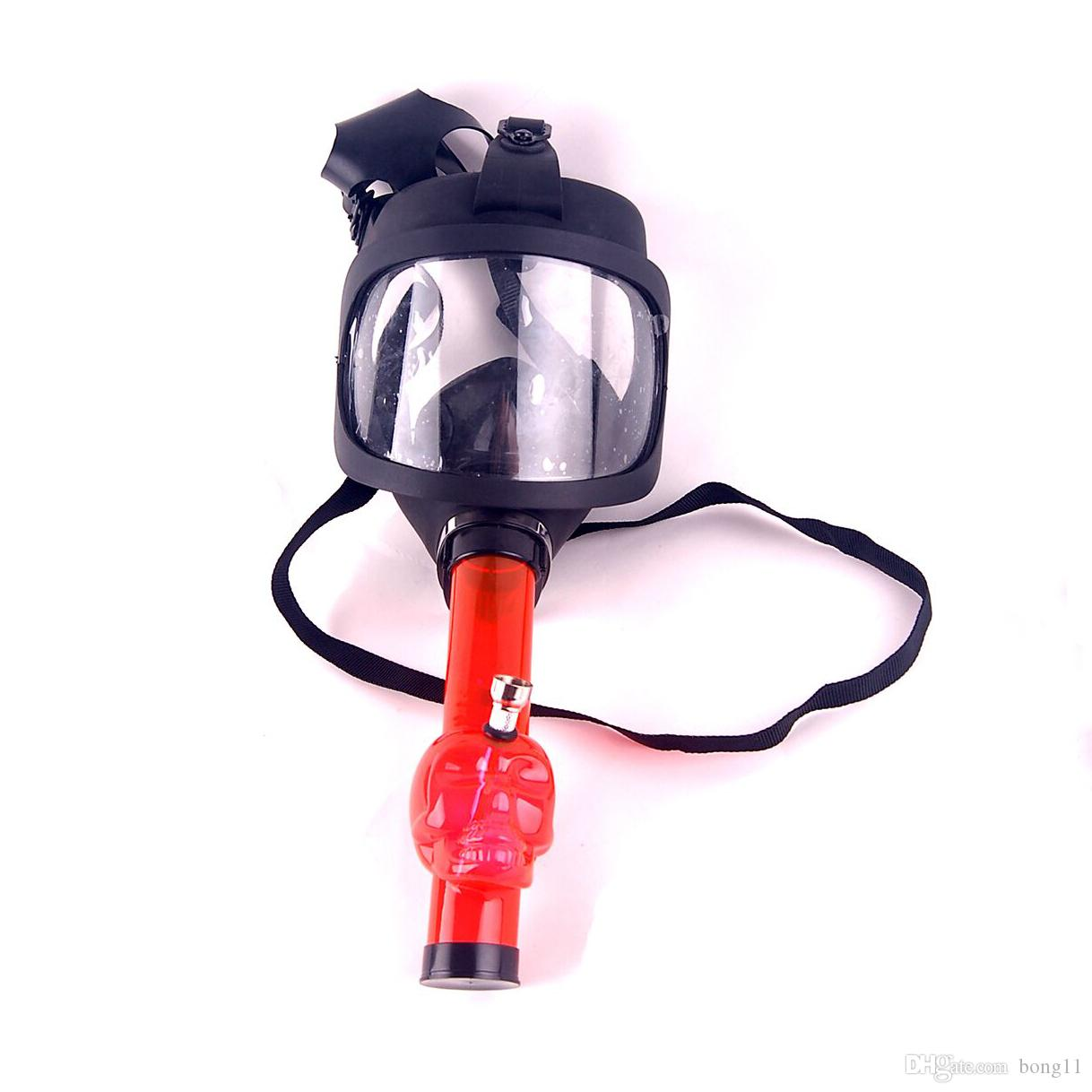 Acrylic Bong Glass Water Pipe Big Scene Gas Mask Hot In Stock Oil Dabber Drop Shipping