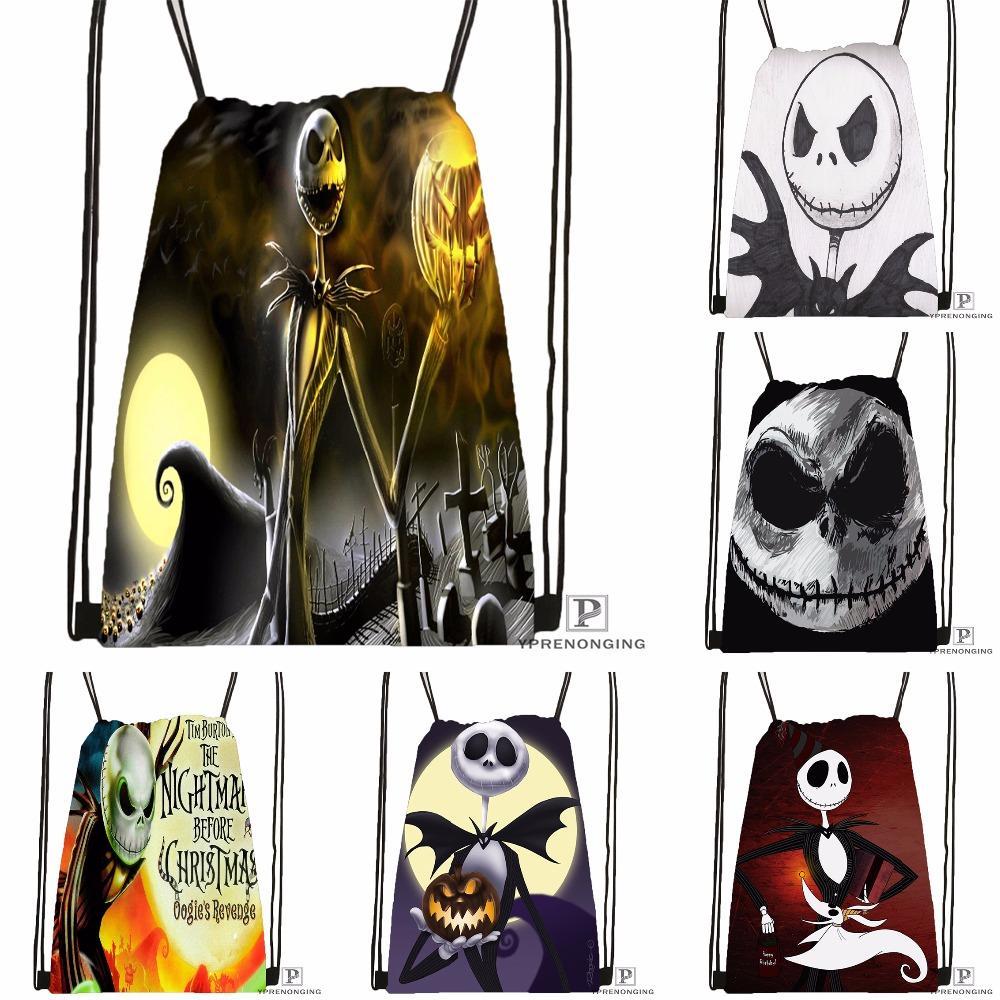 2018 Custom The Nightmare Before Christmas Drawstring Backpack Bag ...
