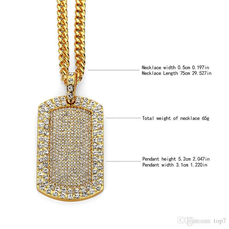Wholesale 2018 new men bling smooth army card pendant iced out full wholesale 2018 new men bling smooth army card pendant iced out full rhinestone gold silver dog tag necklace hip hop jewelry christmas gift diamond pendants mozeypictures Gallery
