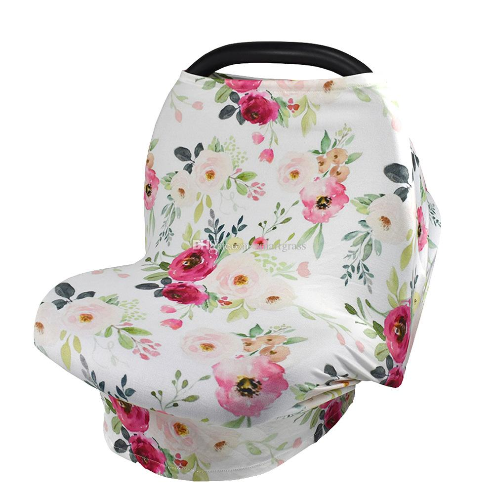 2018 Baby Car Seat Canopy Cover Breastfeeding Nursing Scarf Up Apron Shoping Cart Infant Stroller Sleep Buggy Blowout 1810310 From