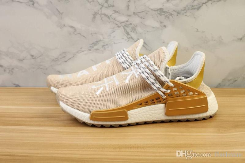 d97ca09e9 Pharrell Human Race China Exclusive Collection Running Shoes Men Women Gold  Happy Red Passion Blue Peace Green Youth Sneaker Girls White Tennis Shoes  Best ...