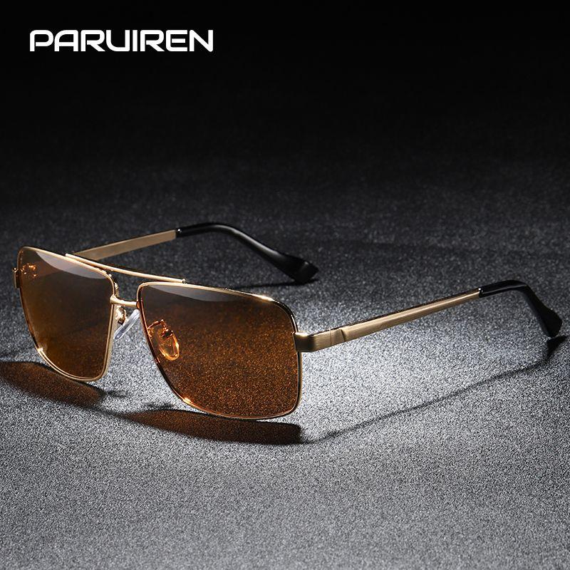 ce1dfca37e PARUIREN Sunglasses Men Polarized Vintage Glasses Luxury Brand Retro ...