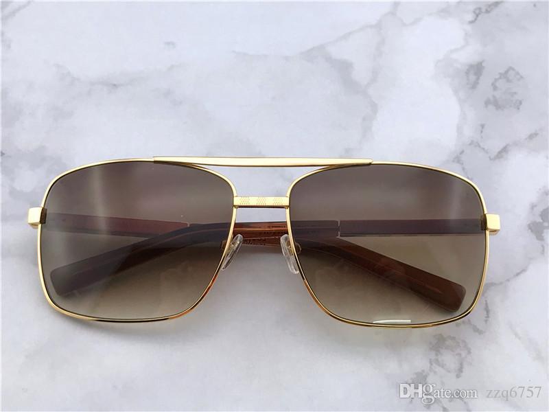 actitud de las gafas de sol al aire libre de los hombres clásicos populares marco cuadrado del diseño del oro marco uv400 gafas de protección de la vendimia estilo del verano del vintage