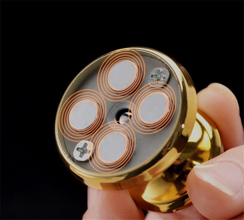 1 Adet alüminyum alaşım dash kurulu manyetik 360 derece döndür cep telefonu cep telefonu Tabletler için cep telefonu halka tutucu araç dağı yaratıcı promosyon hediye