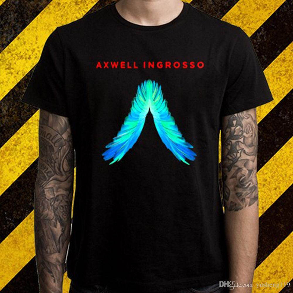 dj axwell and ingrosso logo electro house music mens black t shirt
