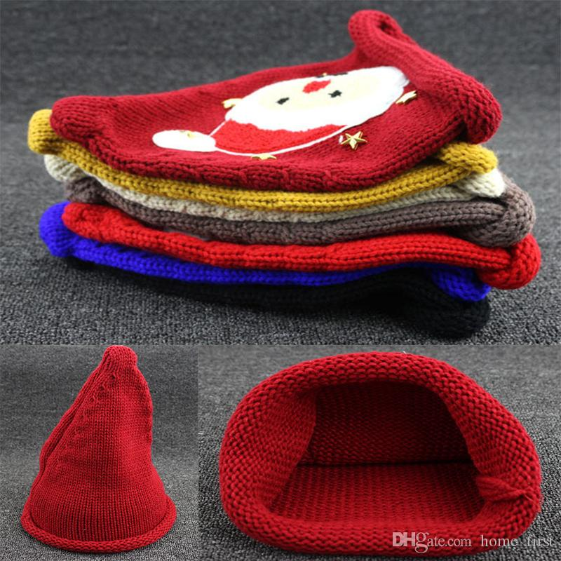 98d3d9e843f 7Style Christmas Baby Boys Girls Santa Claus Knitting Hats Infant ...