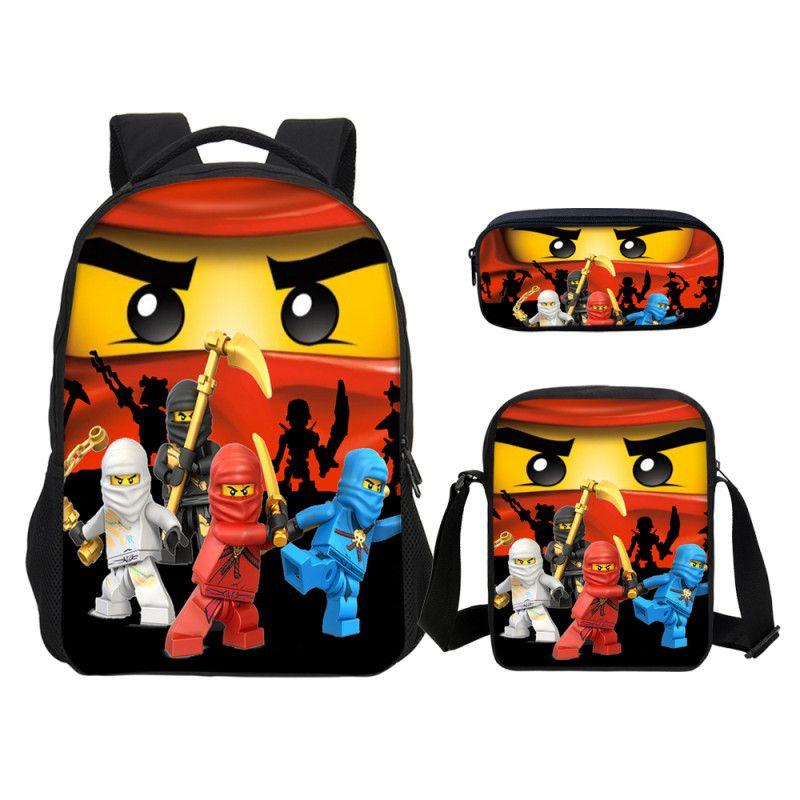 VEEVANV Set Lego Cartoon School Backpacks Kids Shoulder Bags Lego Ninjago  Boys Pen Bookbags Children Daily Bags Rolling Backpack Toddler Backpacks  From ... 0b7589f9785d4