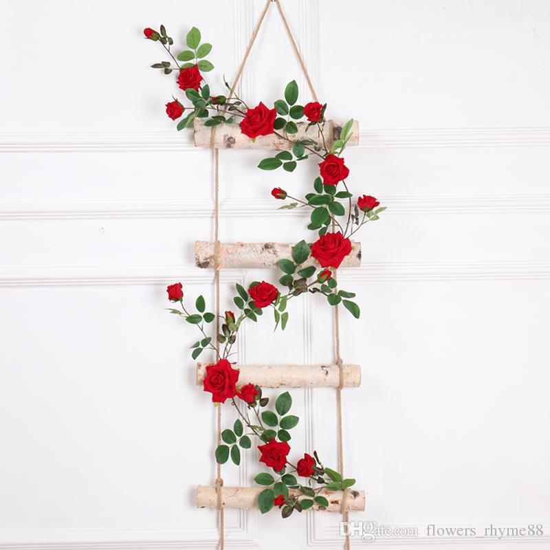 5b95dbd177175 Toque real Artificial de seda falsa flor de rosa falso colgando rosas  decorativas plantas de vid