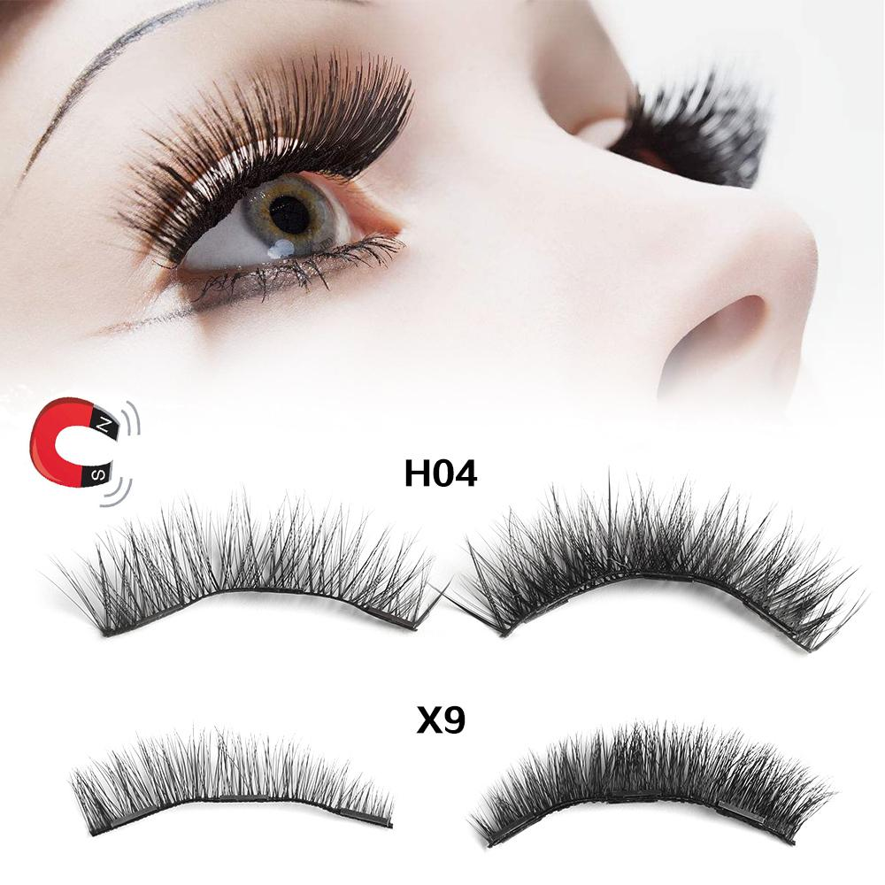 1Box Reusable Luxurious Soft Mink Hair Triple Magnetic False Eyelashes Handmade Cilia Thicker Magnet Eye Lashes Makeup Extension