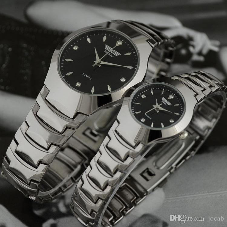 2018 Sports Fashion Brand Auto Date Full steel Dress Watches Man Business Casual quartz Wristwatch Brand Relojes Hombre Male Wholesale
