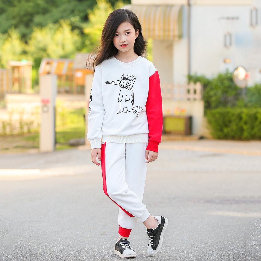 b72ddb726 2019 Teenage Girls Sets Children Sport Girls Suits Set Clothing ...