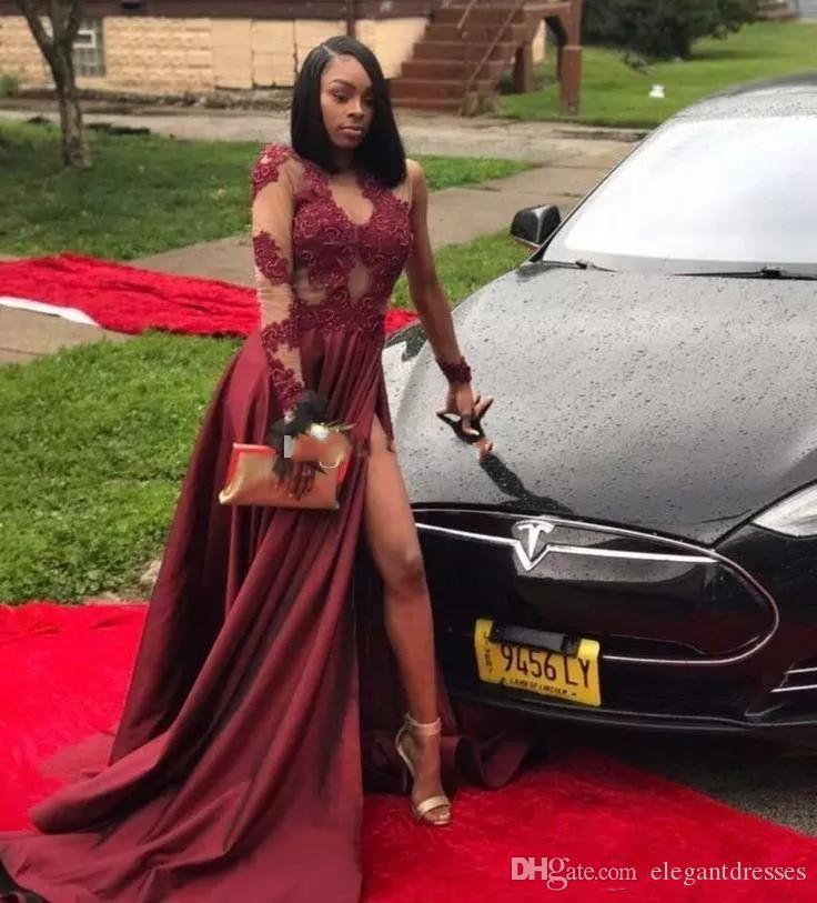 2021 Black Girls Juwel Sheer Eine Schulter Spitze Appliques Prom Kleider Arabische Abend Party Kleider Brauch