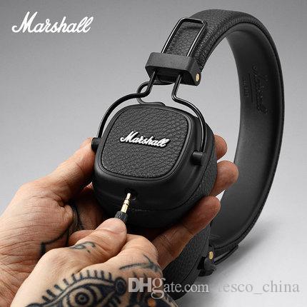 Marshall Major Ii 20 Bluetooth Sans Fil Noir Brun Casques Dj Studio Beat Casque Deep Super Bass Casque à Isolation Phonique Pour Téléphone